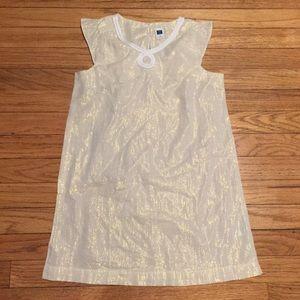 Janie & Jack gold shimmer dress - sz 6
